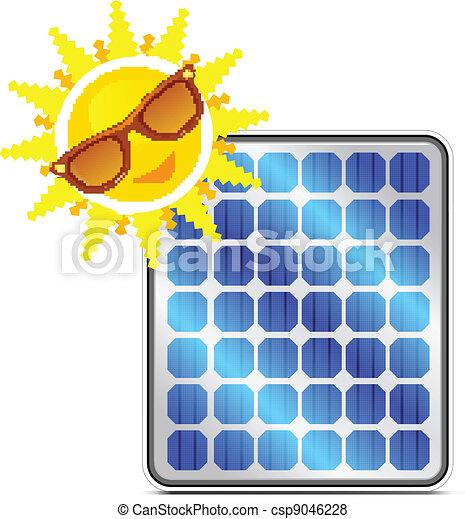 solar power panel - csp9046228