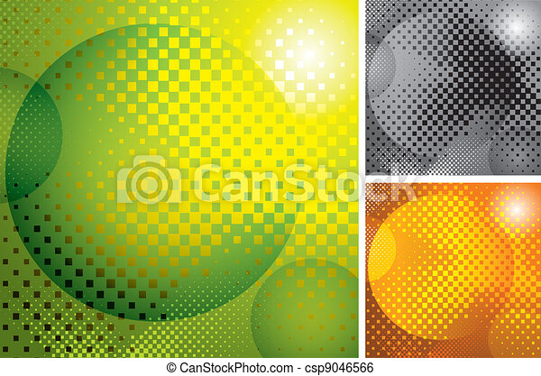 vector abstract halftone background - csp9046566