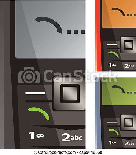 vector set of calling phones - csp9046568