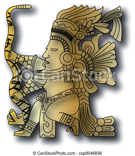 the vector mayan and inca tribal - csp9046836