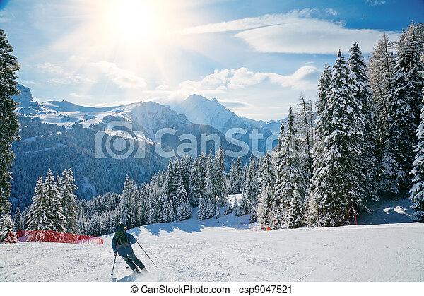 Ski slope - csp9047521