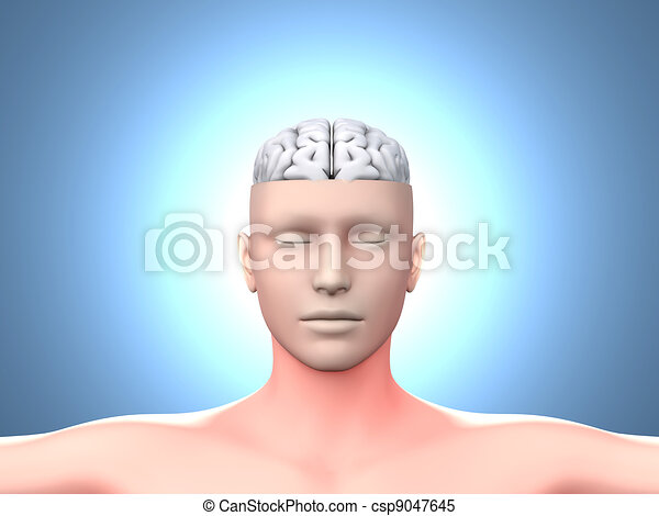 Brain man - csp9047645