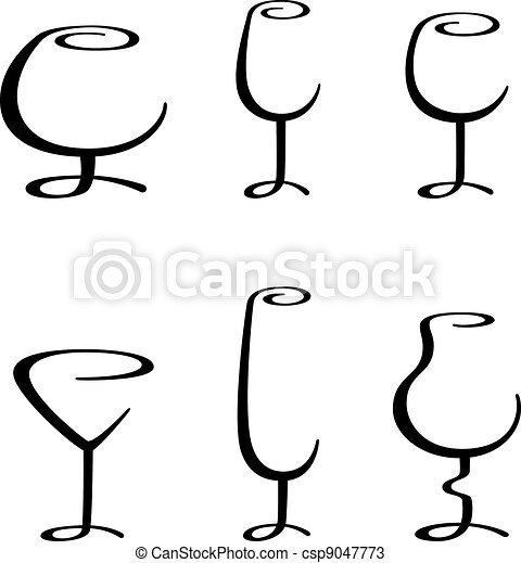 alcoholic glass - csp9047773
