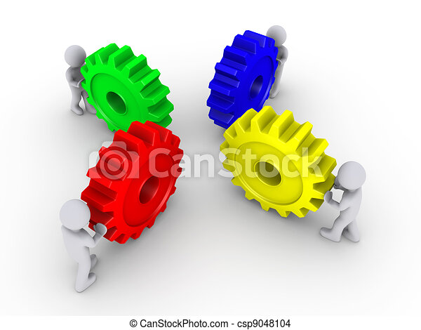 Put the right cogs together - csp9048104