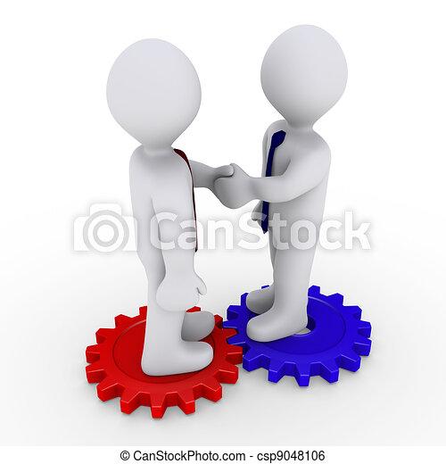 Deal on two cogwheels - csp9048106