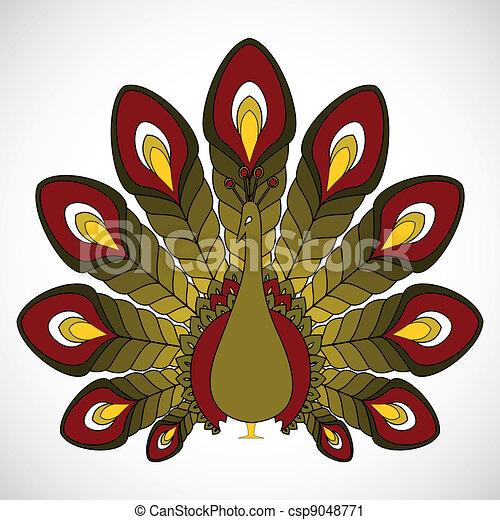 the abstract vector peacock - csp9048771