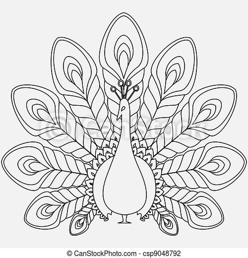the abstract vector peacock - csp9048792