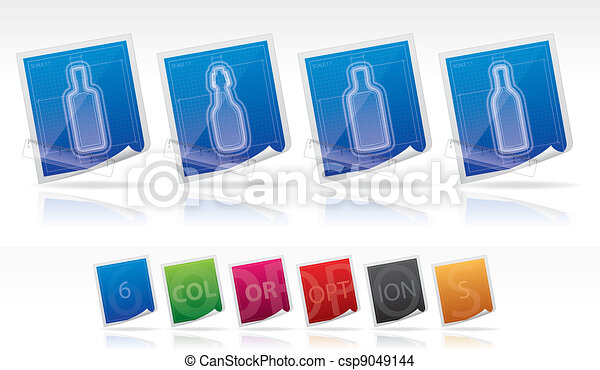 Alcohol bottles - csp9049144