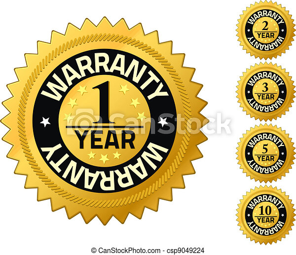 Warranty 1 year Quality Guarantee Badges - csp9049224