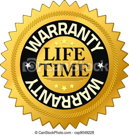 Warranty lifetime Quality Guarantee Badges - csp9049228