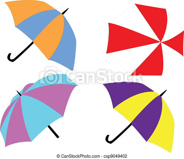 Illustration of umbrellas - csp9049402