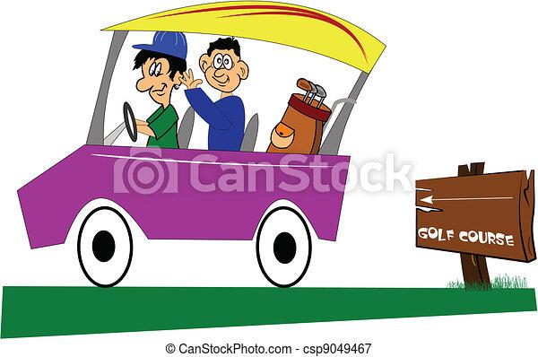 going golfing - csp9049467