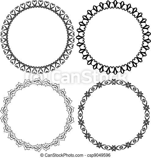 Vector - round frames - stock illustration, royalty free illustrations ...