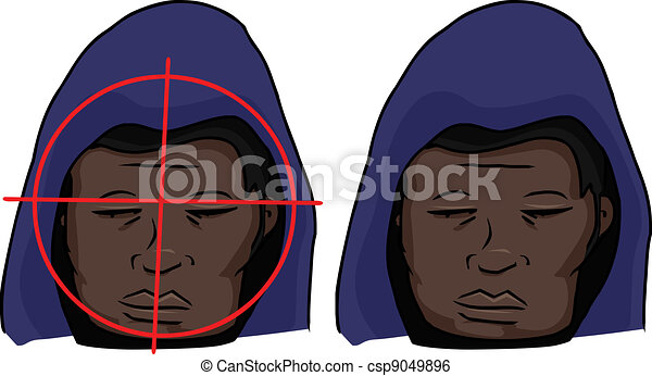 Black Man Targeted - csp9049896