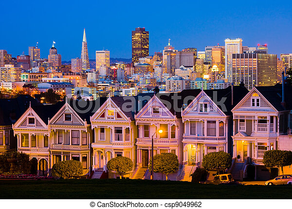 San Francisco at night - csp9049962