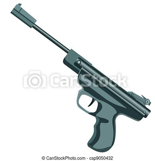 firearm, a pistol on a white background.  - csp9050432