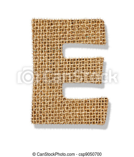 "The letter ""E"" is made of coarse cloth. - csp9050700"