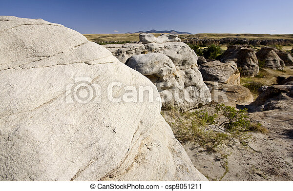 Milk River Alberta Badlands - csp9051211