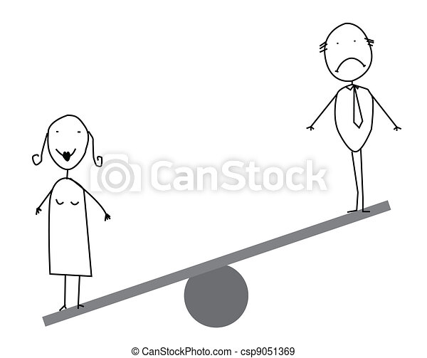 Businessman   businesswoman balance - csp9051369
