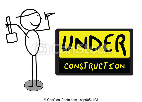 Under Construction people - csp9051403