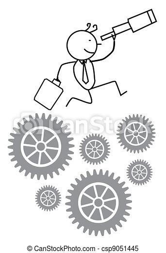 Businessman Find Opportunity - csp9051445