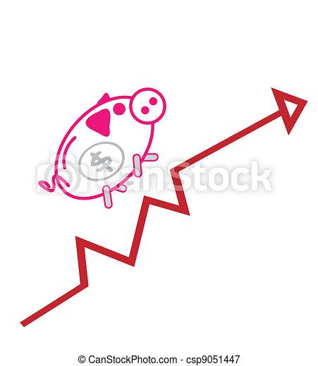 Piggy bank Up Chart  - csp9051447