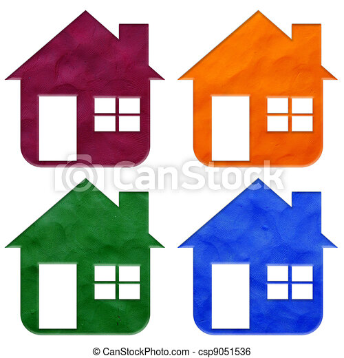 Illustration of house plasticine stick on white background - house ...