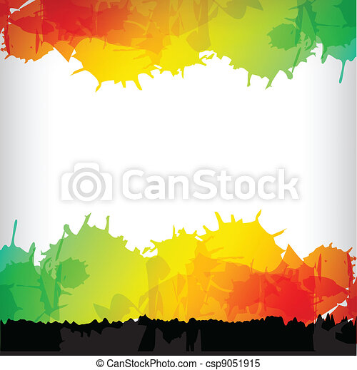 the abstract blot colorful background - csp9051915