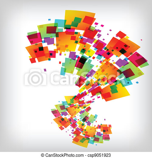 the abstract square colorful background - csp9051923