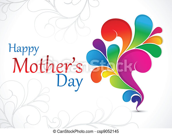 abstract mother day wallpaper - csp9052145