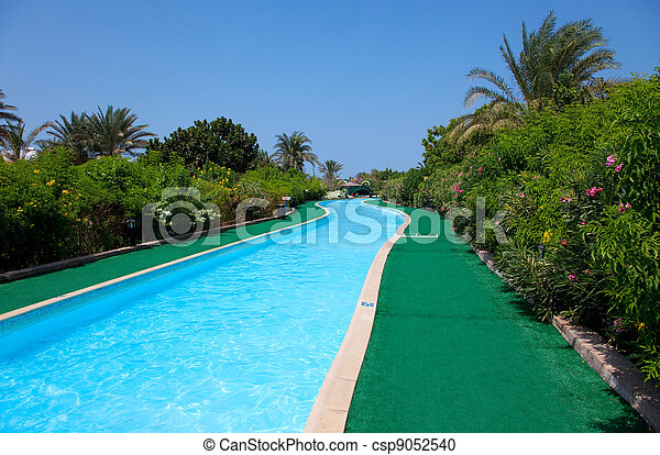 landscape with nobody swimming pool  - csp9052540