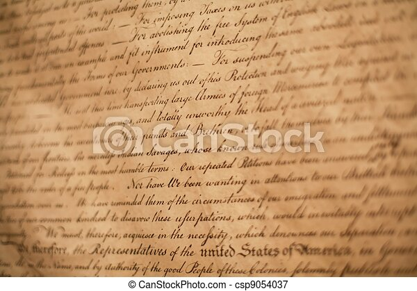 Declaration of Independence - csp9054037