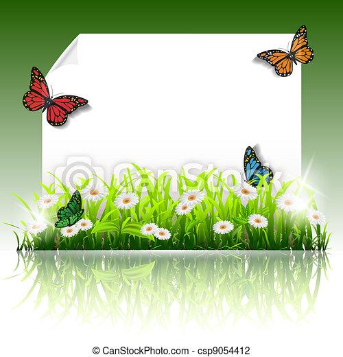 Paper summer frame - csp9054412