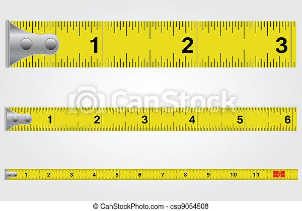 Tape Measure Illustration - csp9054508