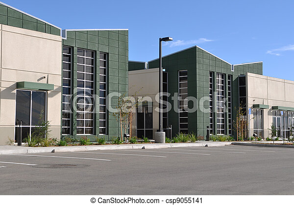 Office Building and Parking Lot - csp9055141