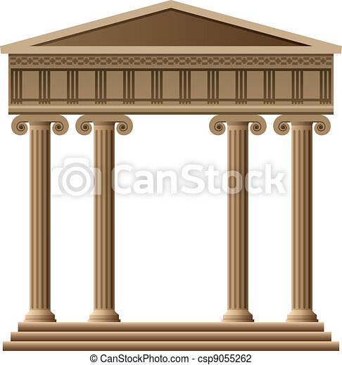 vector ancient greek architecture - csp9055262