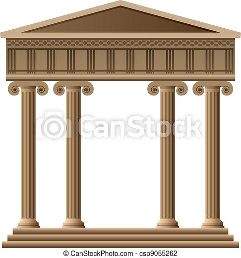 vector ancient greek architecture  - csp9055262