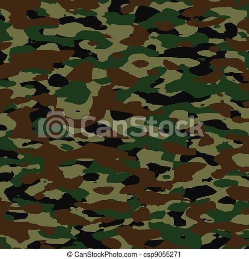 vector summer camouflage pattern - csp9055271