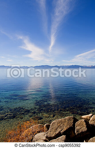 Lake in the mountains - csp9055392