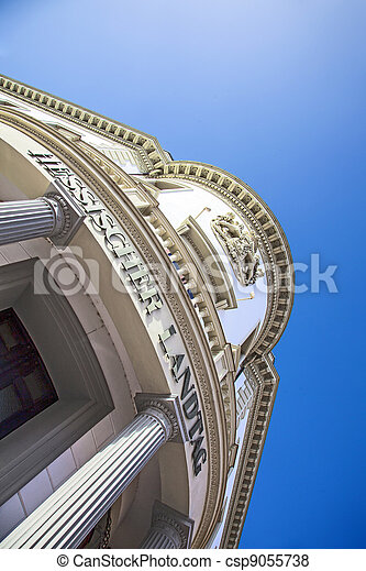 house of politics, the Hessischer Landtag in Wiesbaden - csp9055738