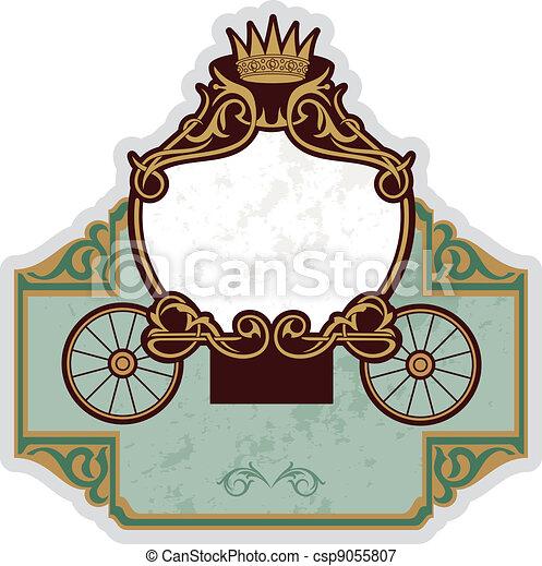fairytale carriage - csp9055807