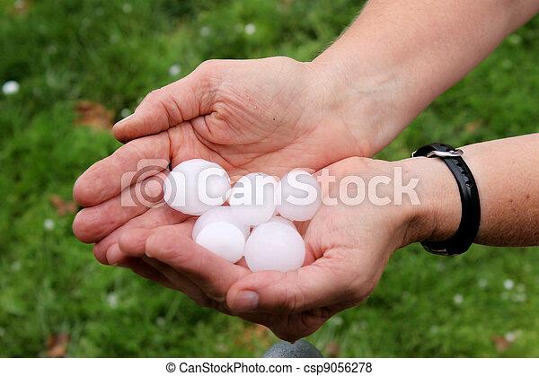 Nice Sized Hail - csp9056278