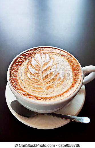 Coffee with foam art - csp9056786
