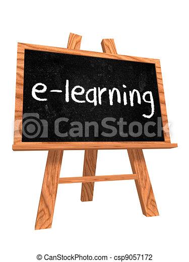e-learning on blackboard - csp9057172