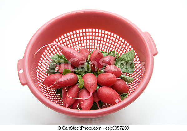 Radishes in the culinary sieve - csp9057239