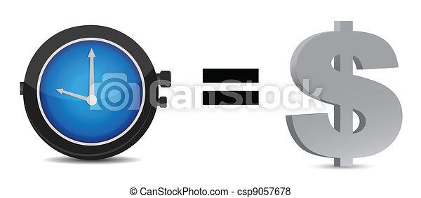 Time is money concept illustration  - csp9057678