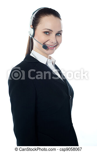 Telemarketing executive offering product - csp9058067