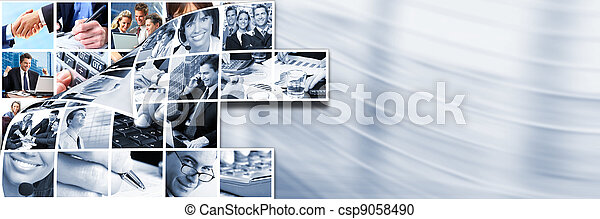 Business people team collage. - csp9058490