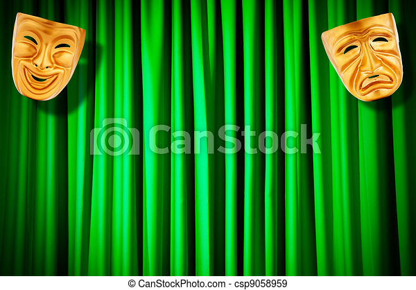 Theatre performance concept with masks - csp9058959