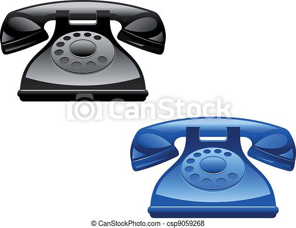 Retro telephones - csp9059268